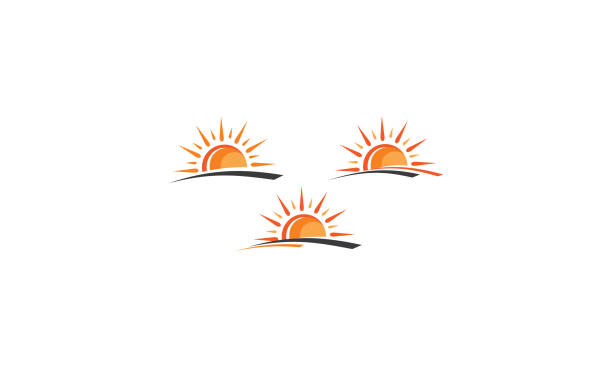 sun vector icon For your stock vector needs. My vector is very neat and easy to edit. to edit you can download .eps. sunrise stock illustrations