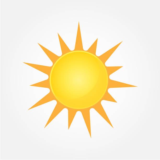 sun vector icon - sunburst stock illustrations, clip art, cartoons, & icons