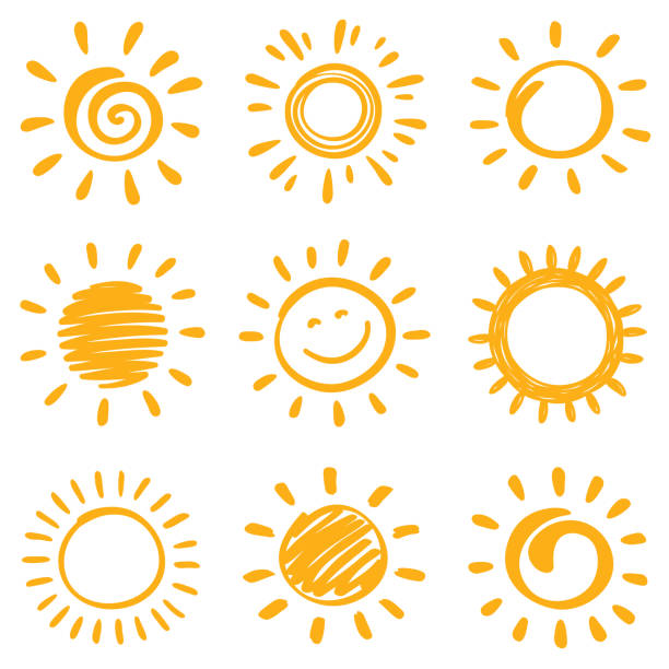 stockillustraties, clipart, cartoons en iconen met zon - smile