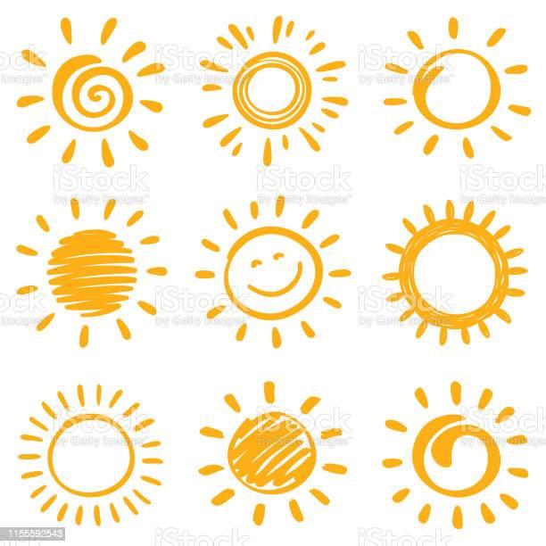 Vetores de Sol e mais imagens de Amarelo