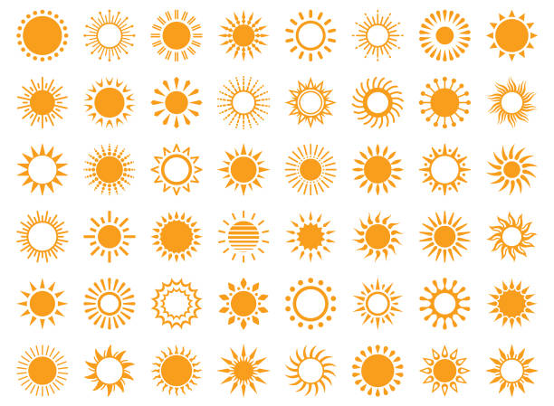 bildbanksillustrationer, clip art samt tecknat material och ikoner med sol - sun