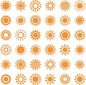 Sun, set of 36 variations