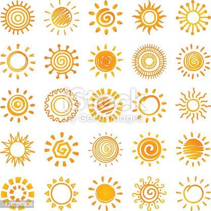 Sun, set of 25 variations