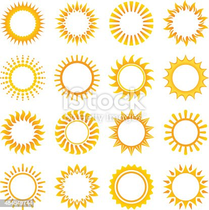 Sun, set of 16 frames.