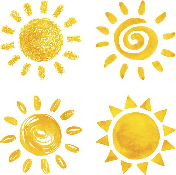 sun - sunburst stock illustrations, clip art, cartoons, & icons