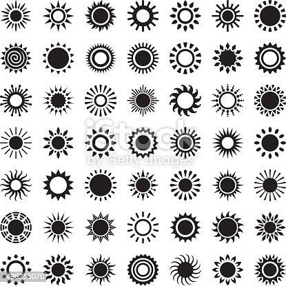 Sun, set of 49 variations