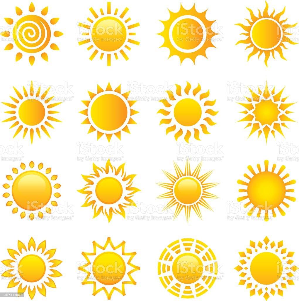 Sun vector art illustration
