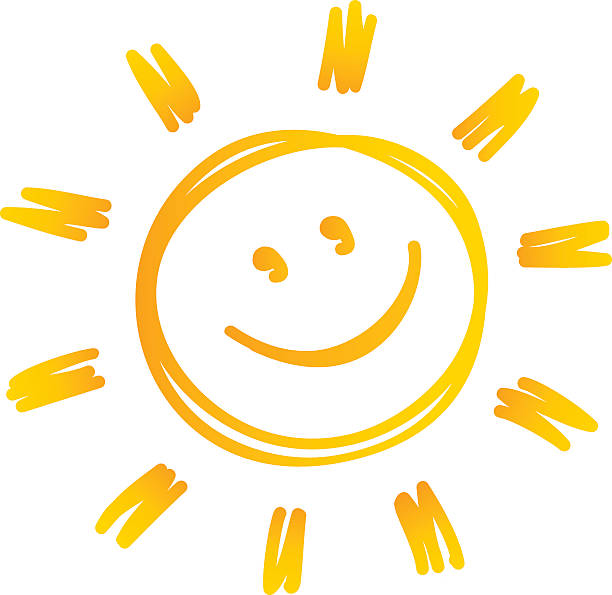 stockillustraties, clipart, cartoons en iconen met sun - smile