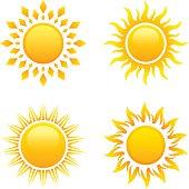 Sun, set of 4 variations