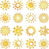 Sun, set of 16 variations