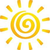 Sun, vector image.