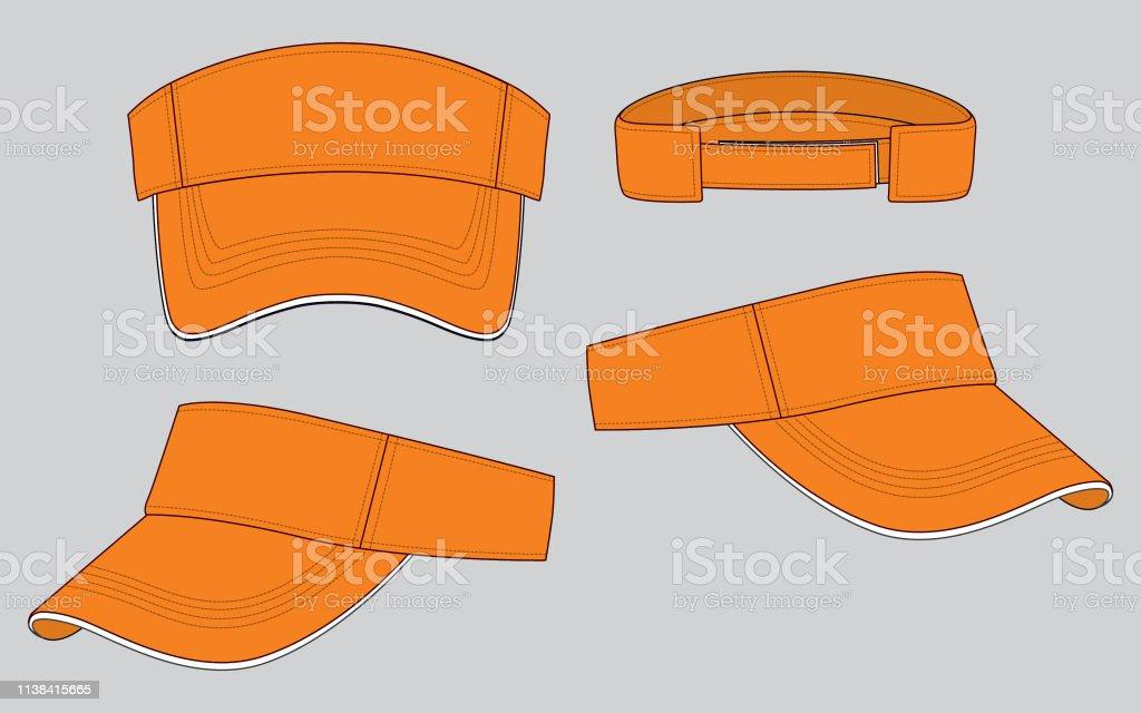 acheter mieux apparence élégante vraie qualité Casquette Paresoleil Pour Modèle Vecteurs libres de droits ...