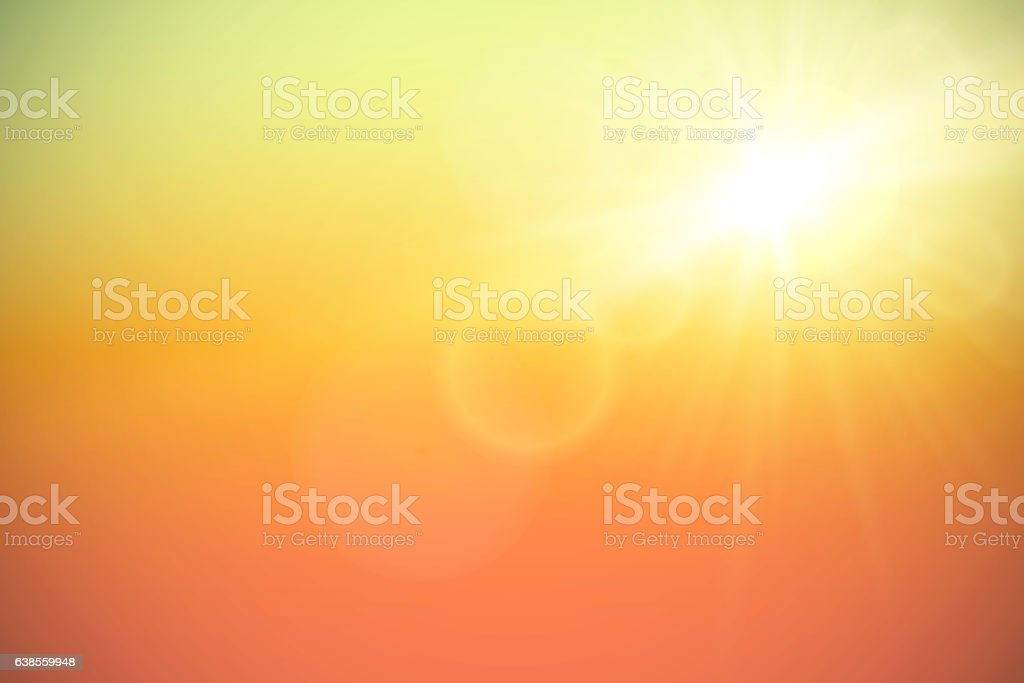 Sun with lens flare, vector illustration.