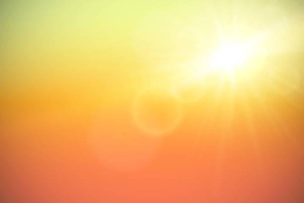 Sun with lens flare, vector illustration. - Illustration vectorielle