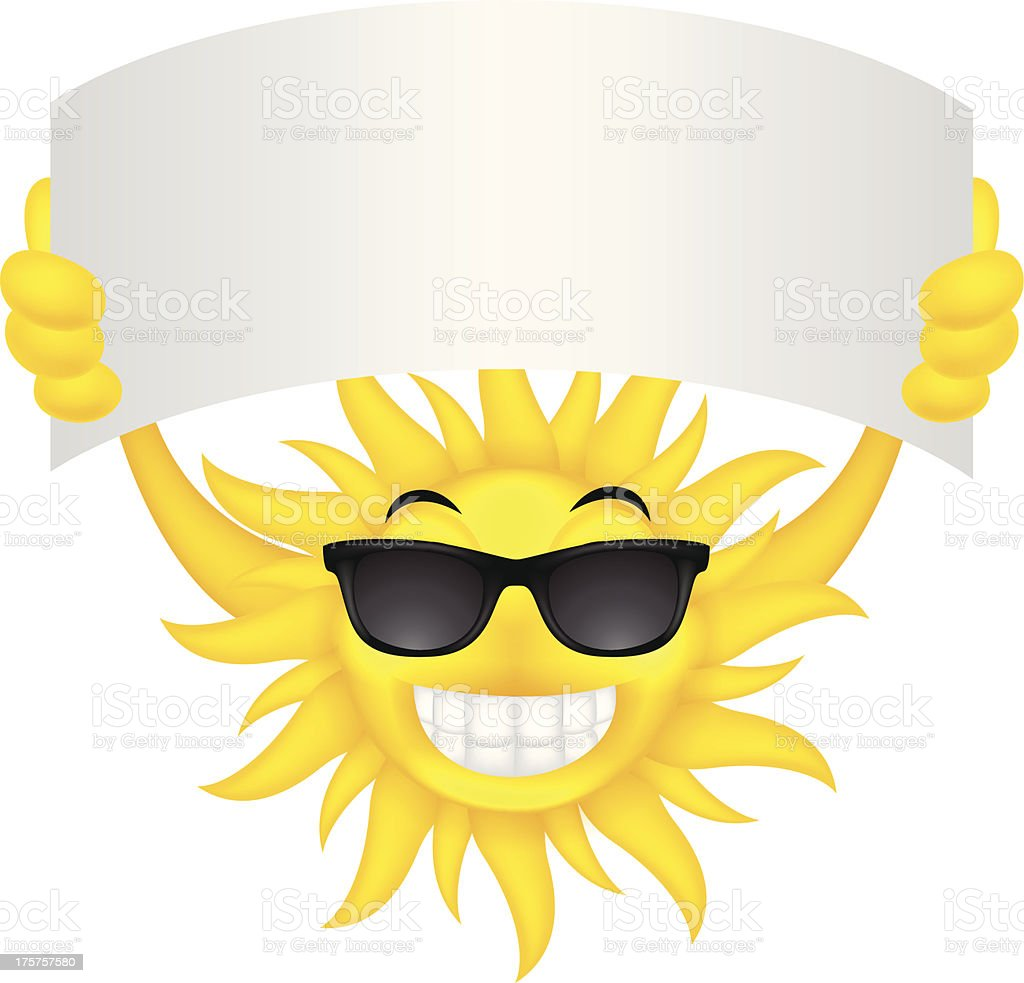 Sun with sign royalty-free sun with sign stock vector art & more images of advertisement