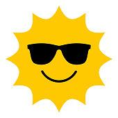 istock Sun with sunglasses smiling icon 1162188332