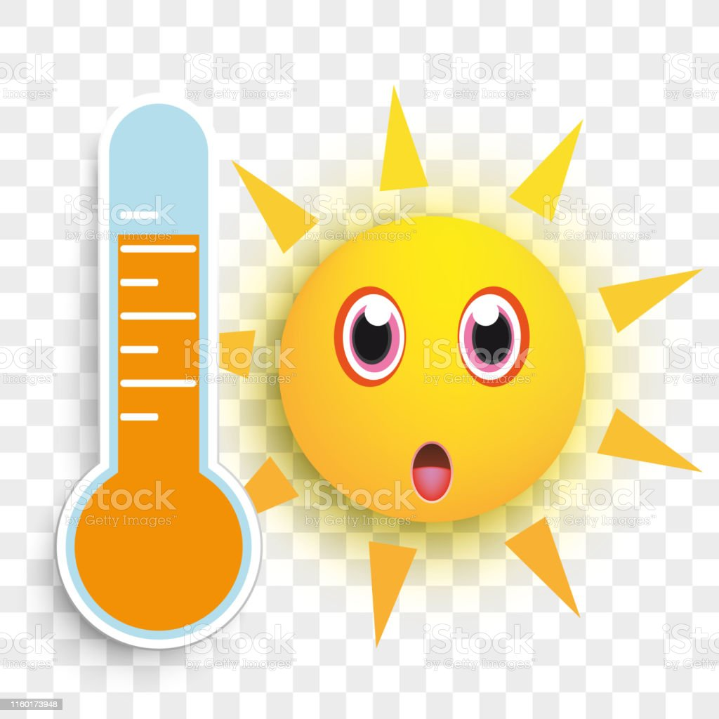 Sun Wow Face Smiley Weather Icon Transparent Stock