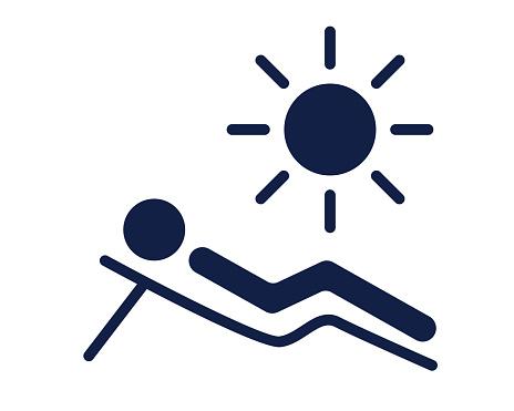 sunbathe glyph icon