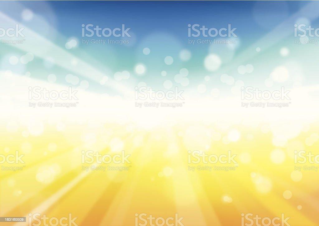 Sunbeam Background - Illustration vector art illustration
