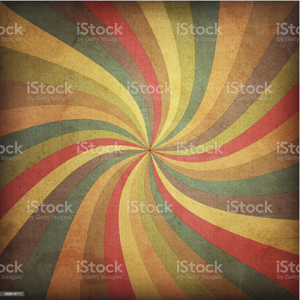 Sunbeam background radiating multiple colors vector art illustration