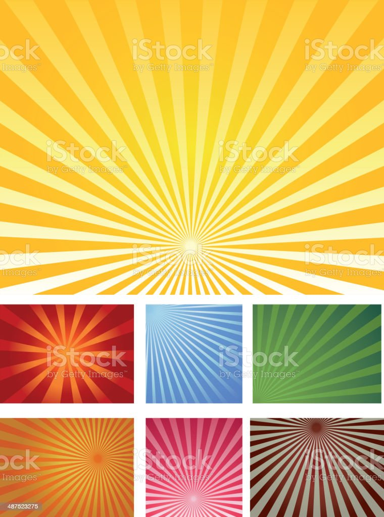 Sunbeam Collection vector art illustration