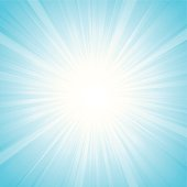 Sunbeam effect in light blue. illustration contains transparency effects & Gaussian Blur,AI CS3, Contains : 1 layers, Adobe Version 10EPS