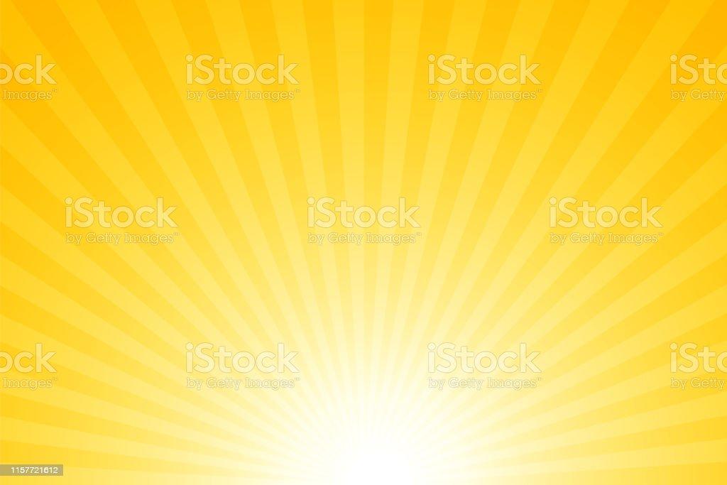 Sunbeams: fundo brilhante das raias - Vetor de Abstrato royalty-free
