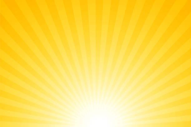 태양광 선광선: 밝은 광선 배경 - 노랑 stock illustrations