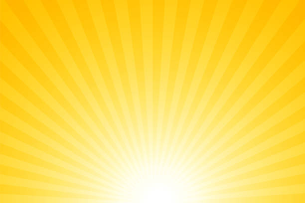 sunbeams: bright rays background - zachód słońca stock illustrations