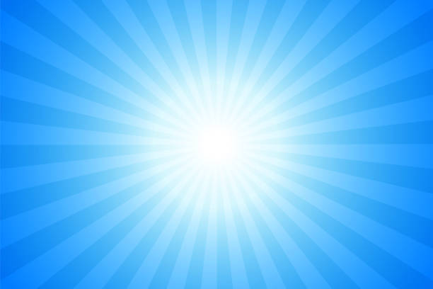 Sunbeams: Bright rays background Sunbeams: Bright rays background blue sky stock illustrations