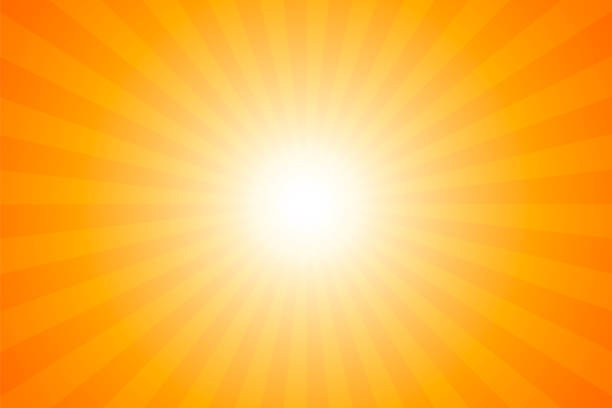 Sunbeams: Bright rays background vector art illustration