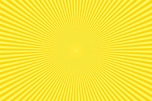 Sunbeams: Yellow rays background