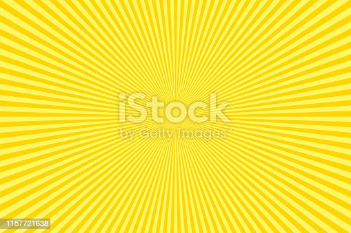 Sunbeams: Yellow rays background