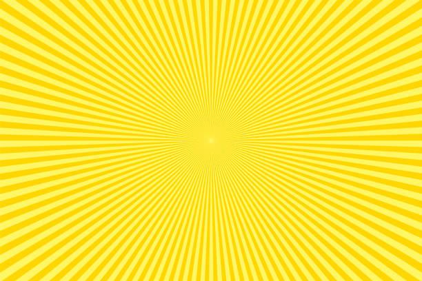 Sunbeams: Yellow rays background vector art illustration