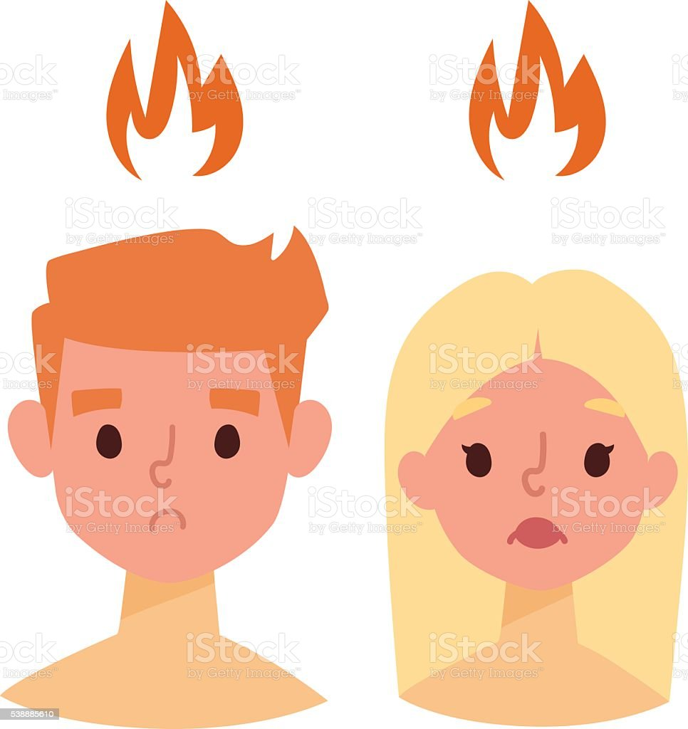 Sunburn vector illustration. vector art illustration