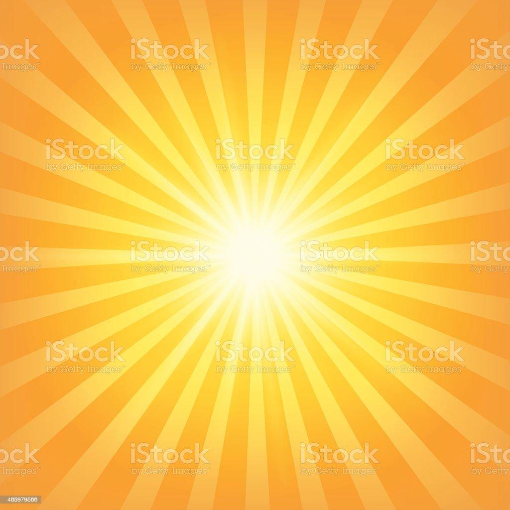 Sunburst Background vector art illustration