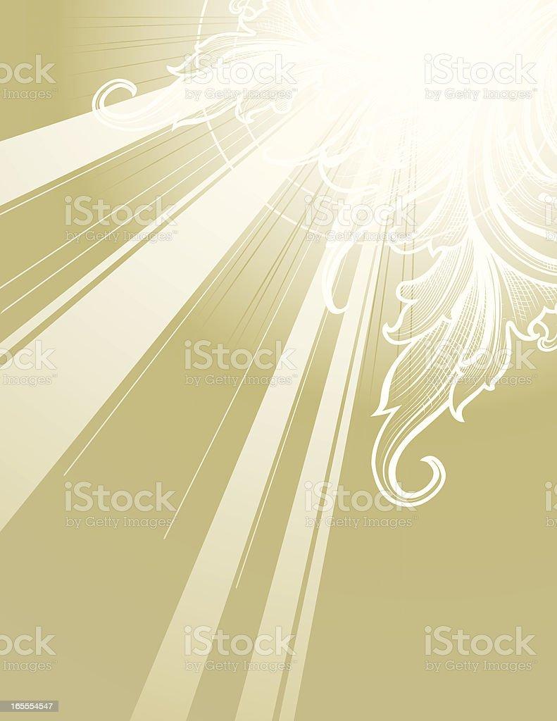 Sunburst of Scroll royalty-free sunburst of scroll stock vector art & more images of art deco