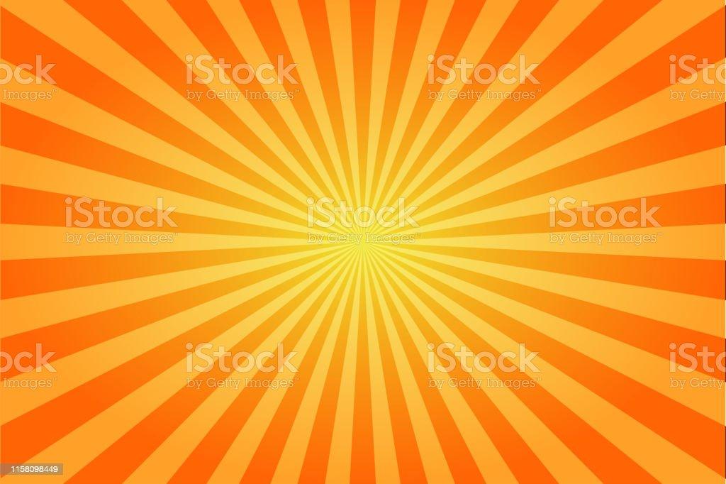 c6f2265d23333 Sunburst retro sun rays yellow background. Abstract summer sunny. Vintage  radial texture. royalty