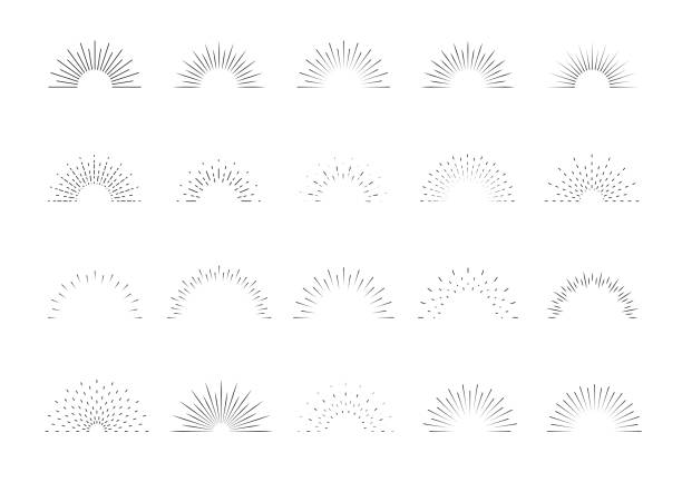 Sunburst set. Big collection sunburst best quality. Star, firework explosion, logo, emblem, tag. Web banner. Vector Illustration. Sunburst set. Big collection sunburst best quality. Star, firework explosion, logo, emblem, tag. Web banner Vector Illustration sunrise stock illustrations