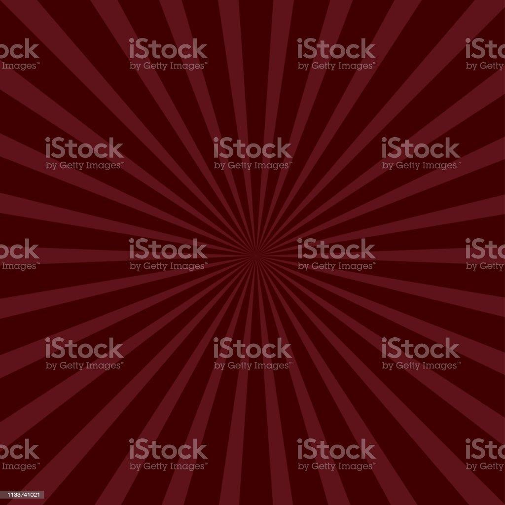 Sunburst starburst with ray of light. Bordo color. Template background. Flat design. векторная иллюстрация