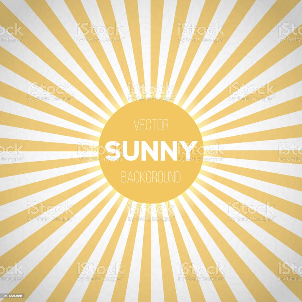 Sunburst Vector EPS10 Background. Sunny Stripes Vector vector art illustration