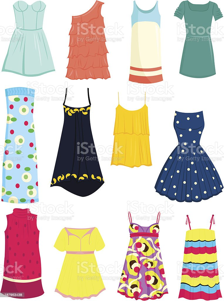 Sundresses vector art illustration