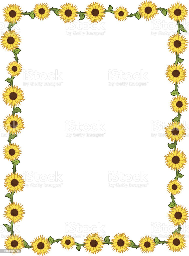 Sunflower Border Royalty Free Stock Vector Art Amp More Images Of Cartoon
