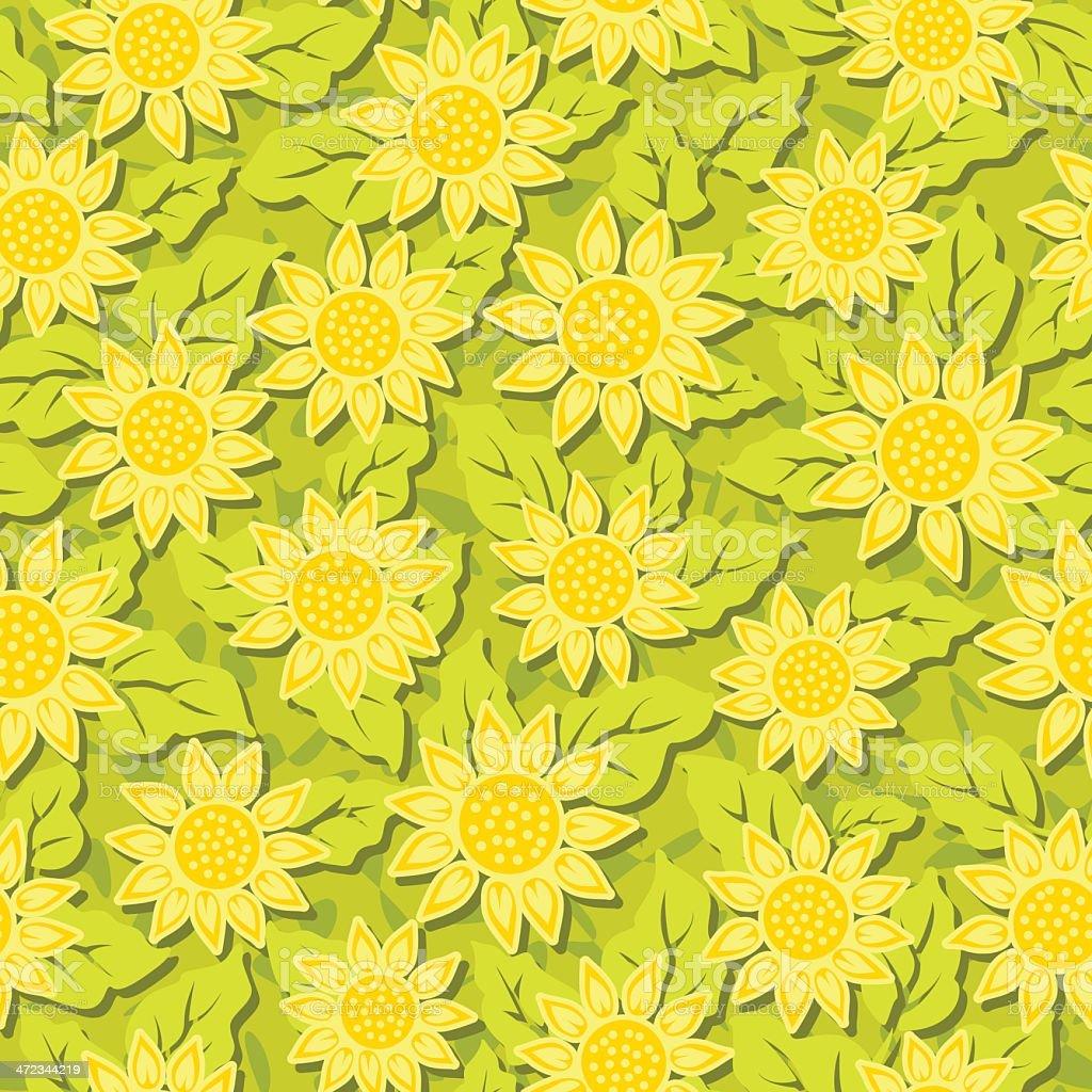 sunflower flower seamless background royalty-free stock vector art