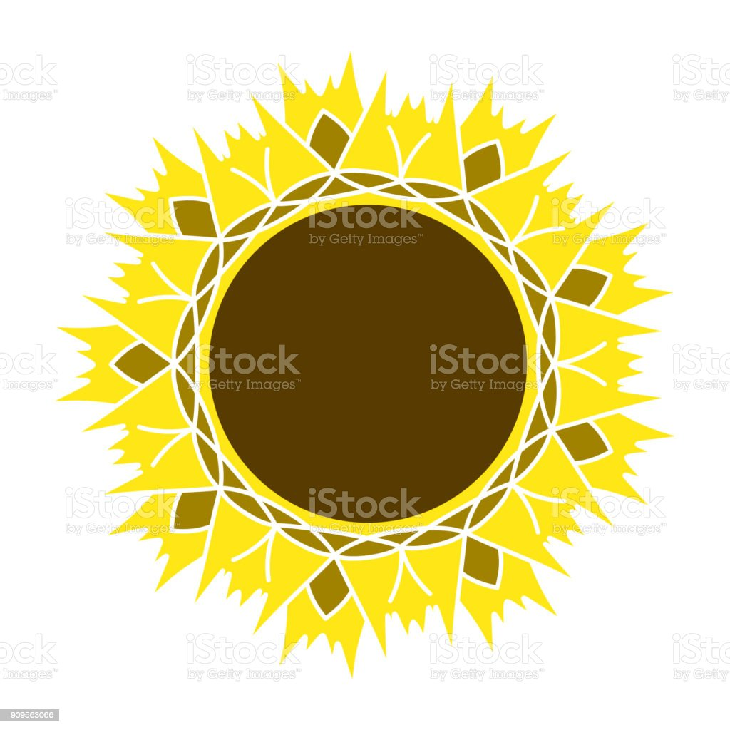 Sunflower Gardening Logo Symbol Icon Flat Style Design Vector Stock ...