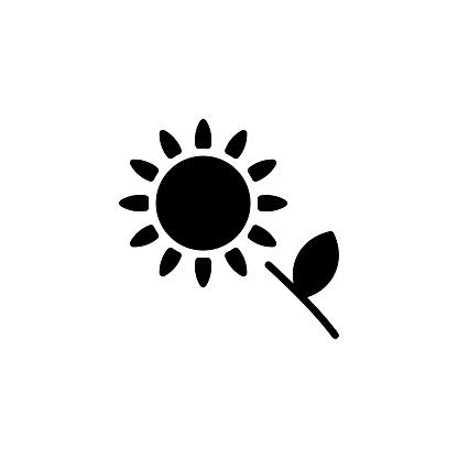 Sunflower icon in vector. Logotype