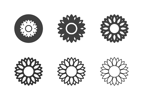 Sunflower Icons - Multi Series
