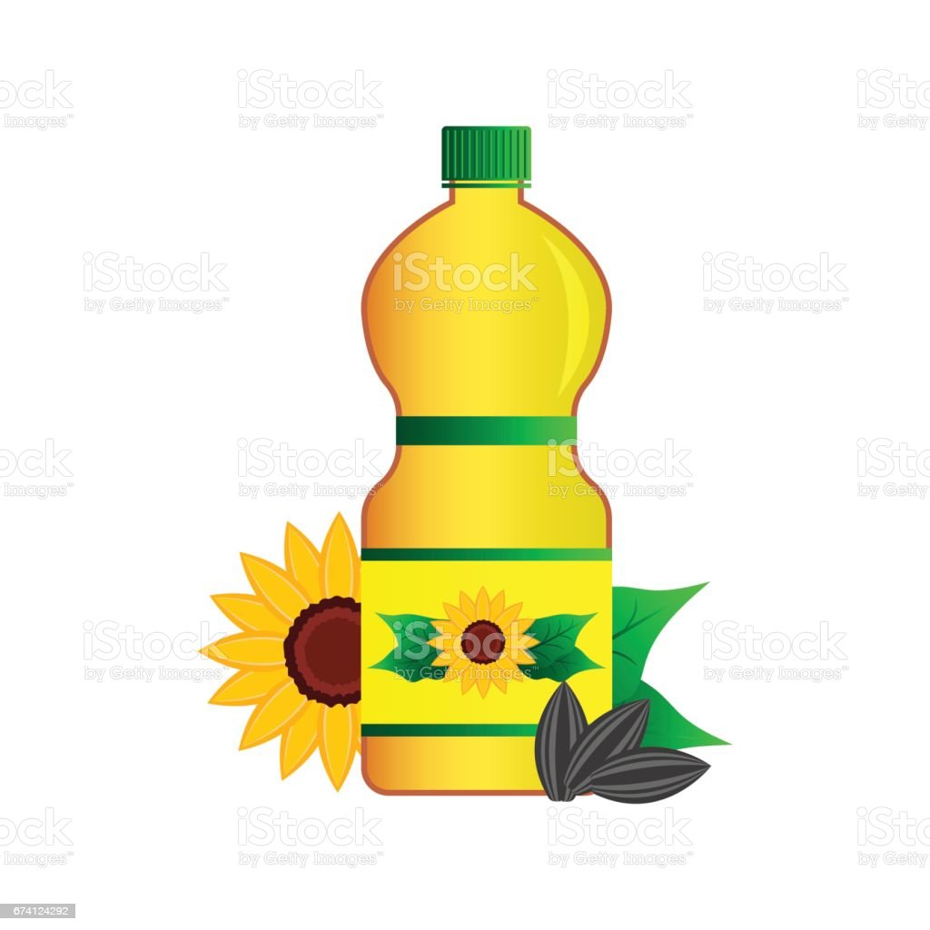 sunflower oil flower seed sunflower concept in the bottle with the rh istockphoto com Essential Oil Bottle Clip Art Stihl Oil Bottles