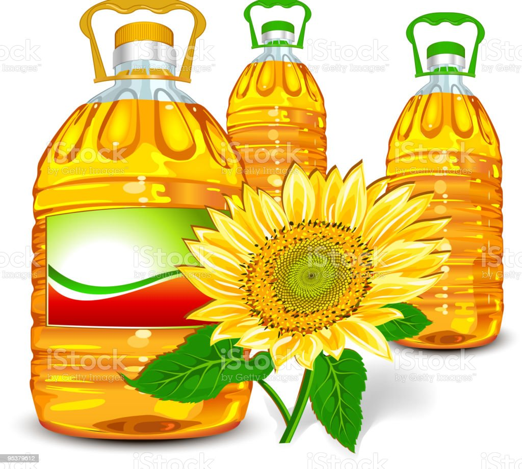 Sunflower oil royalty-free stock vector art
