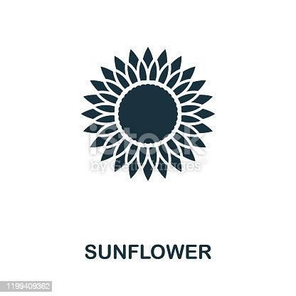 Sunflower icon vector illustration. Creative sign from sunflower icons collection. Filled flat Sunflower icon for computer and mobile. Symbol, logo vector graphics.